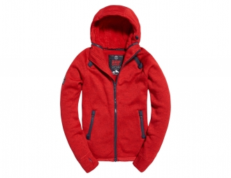 Sweat superdry storm double red grit xl