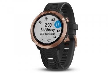 Garmin Forerunner 645 Music GPS orologio in oro rosa con fascia colorata nera
