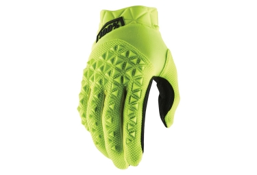 100% AIRMATIC Gloves Fluo Yellow Black Youth