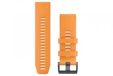 Garmin QuickFit 26 mm Silicone Wristband Solar Flare Orange