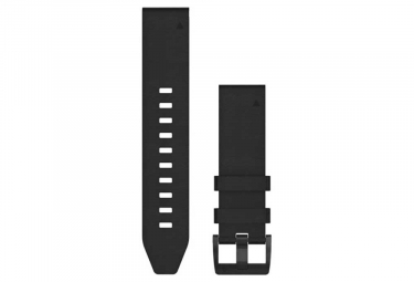 Garmin QuickFit 22 mm Leather Wristband Black