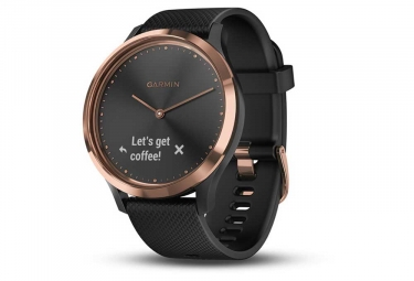 Montre Connectée Garmin Vívomove HR Rose Gold avec Bracelet en Silicone Noir