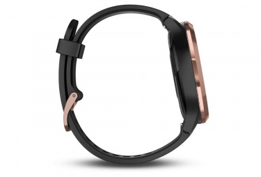 Garmin Vívomove HR Smartwatch Rose-Gold with Black Silicone Band