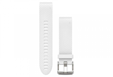 Polsino in silicone da 20 mm Garmin QuickFit bianco Carrara