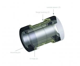 Kit Réducteur Fox Racing Shox 5 Pieces Alu 8x19.05mm