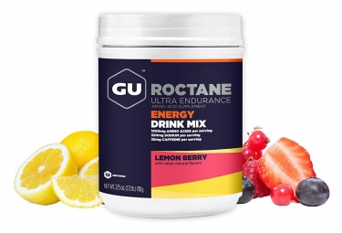 Boisson Energetique GU ROCTANE Citron Fruits rouges 780g
