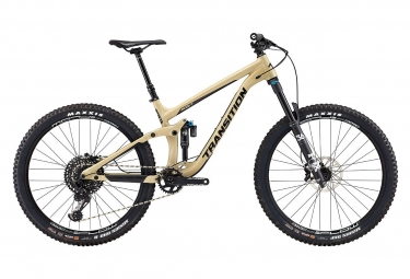 Velo tout suspendu transition scout alu 27 5 sram gx eagle 12v desert tan 2019 m 165