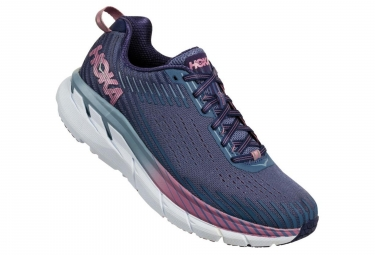 Hoka One One Shoes Running CLIFTON 5 Blue Pink Women