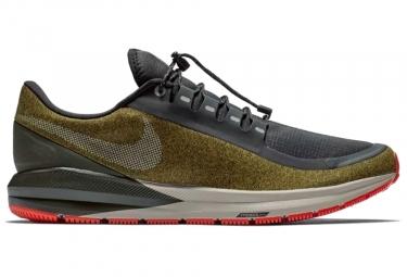 Nike air zoom structure 22 shield noir vert kaki homme 45
