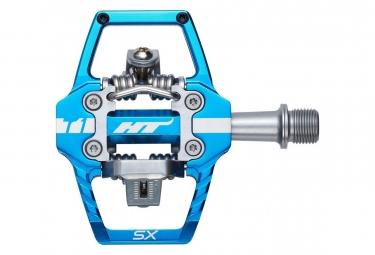 Paire de pedales automatiques ht t1 sx bleu