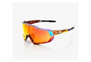 100% Sunglasses Speedtrap Peter Sagan Chromium Red / Hiper Red Multilayer Mirror