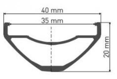 Roue Avant DT Swiss Hybrid H1900 Spline 27.5''/35mm | Boost 15x110mm