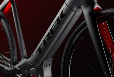 Trek Domane + Bicicleta de carretera eléctrica Sram Force 1 11S Matte Black / Red 2019