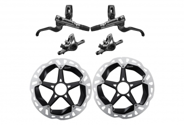 SHIMANO Pair of Disc Brake XTR M9100 I-Spec EV (with disc 180mm)