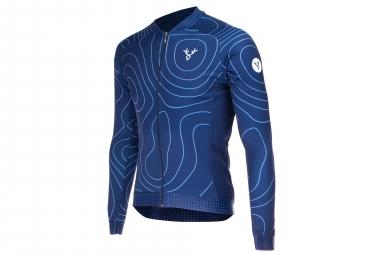 LeBram Megève Long Sleeves Jersey Blue Adjusted Fit