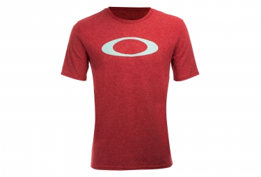 T shirt manches courtes o bold ellipse iron rouge s