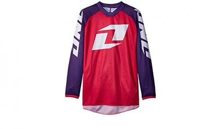 Maillot one industries kids mtb bmx mx manches longues atom icon magenta m