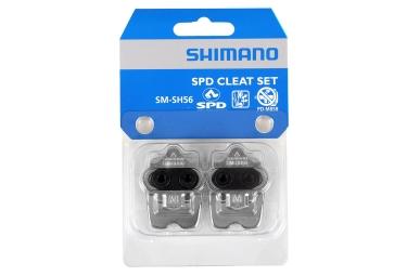 SHIMANO Cales SM-SH56 SPD + Plaque de support (la paire)