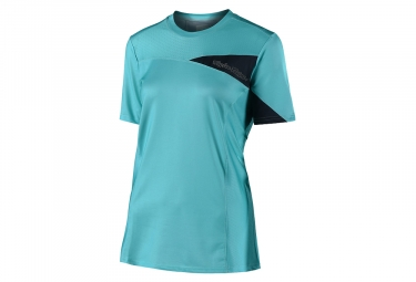 Troy Lee Designs Skyline Woman Short Sleeves Jersey Solid Aqua Blue