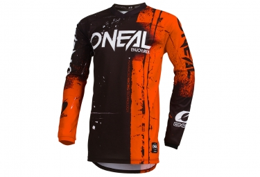 Maillot Manches Longues O'neal Element Shred Orange / Noir