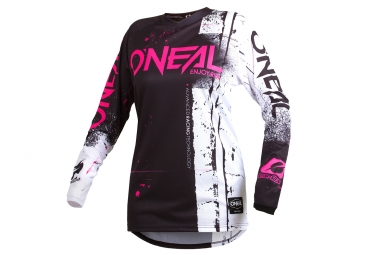 Maillot Manches Longues Femme O'neal Element Shred Rose / Noir