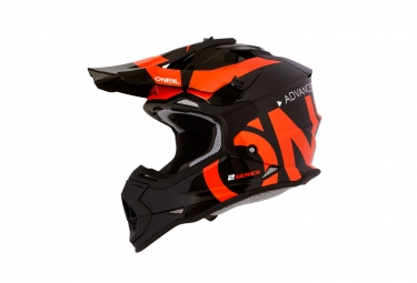 Casque integral enfant o neal 2series slick noir orange 49 50 cm
