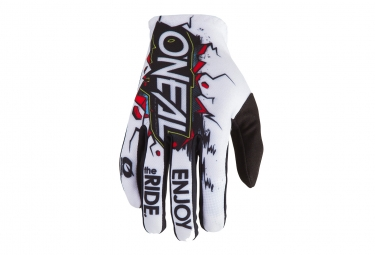 Paire de Gants Longs O'neal Matrix Villain Blanc / Noir