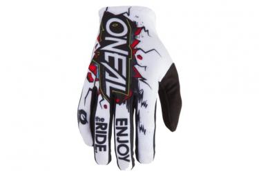 O'Neal Matrix Villain Gloves - Blanc / Multi-couleur