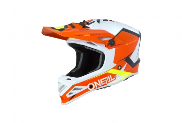 Casque integral o neal 8series blizzard orange xxl 63 64 cm