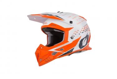 Casque integral o neal 5series trace blanc orange xs 53 54 cm