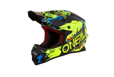 Casque integral 3series villain jaune fluo xxl 63 64 cm