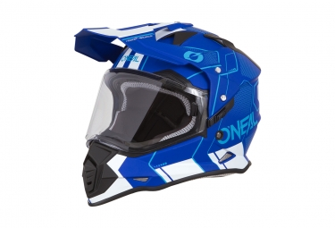 Casque integral o neal sierra ii comb bleu blanc s 55 56 cm