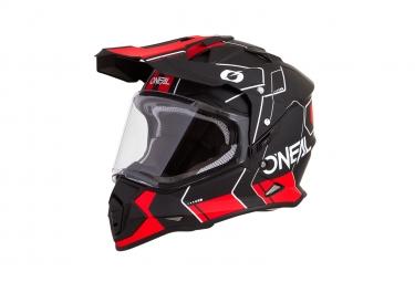 Casque integral o neal sierra ii comb noir rouge s 55 56 cm