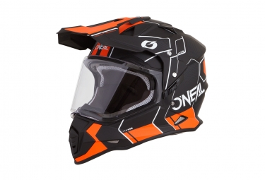 Casque integral o neal sierra ii comb noir orange s 55 56 cm