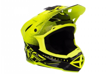 Casque integral fly racing default jaune noir kid m 49 50 cm