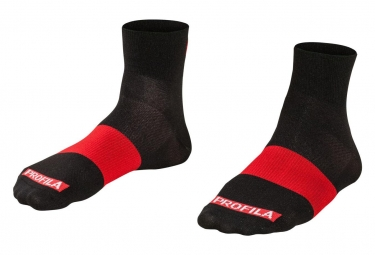 Bontrager Race 2.5cm Socks Black Red