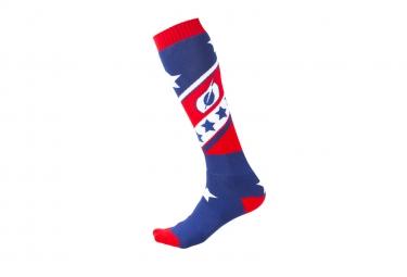 Paire de chaussettes o neal pro mx stars rouge bleu