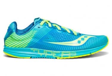 Saucony Women Running Shoes Type A8 Blue / Lemon