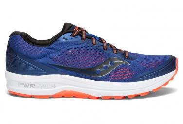 Chaussures de running saucony clarion bleu rouge 40
