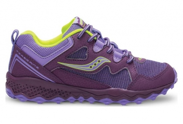 Saucony Kids Running Shoes Peregrine Shield 2 Purple / Lemon
