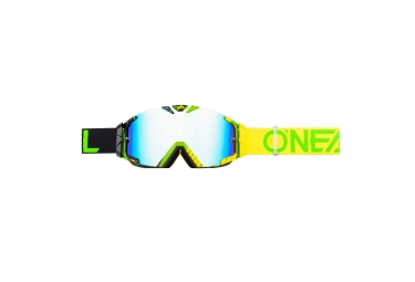 ONEAL B-30 Goggle DUPLEX black/hi-viz/green - radium