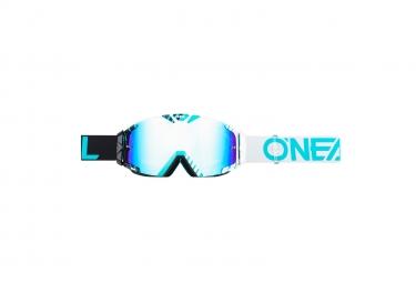 ONEAL B-30 Goggle DUPLEX b/w/teal - radium