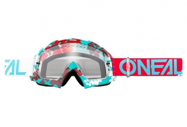 Máscara O'Neal B-10 Goggle Pixel Clair  clear red