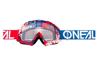 ONEAL B-10 Goggle PIXEL red/blue - clear
