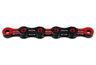 Chaine kmc dlc11 116 maillons noir rouge