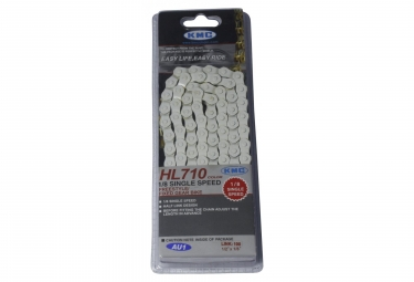 KMC HL710 Chain 1/2''x1/8'' 104 Links White