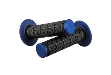 Paire De Grips O'neal Diamond Mx Dual Compound Noir / Bleu