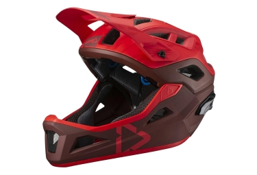 Leatt DBX 3.0 Enduro V19.1 Helmet with Removable Chinstrap Ruby Red