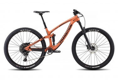 Velo tout suspendu transition smuggler carbone 29 sram nx eagle 12v orange 2019 l 17