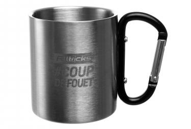 Alltricks COUP DE FOUET Inox Mug Plateado / Negro